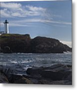 Nubble Lighthouse Metal Print