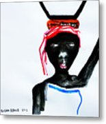 Nuer Lady - South Sudan Metal Print