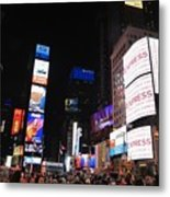 Nyc Times Square Metal Print