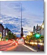 O' Connell Bridge At Night - Dublin Metal Print