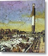 Oak Island Lighthouse Metal Print