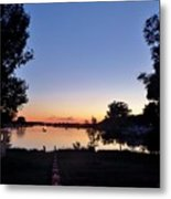 Obear Park And The Danvers River At Sunset Metal Print