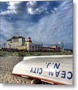 Ocean City Lifeboat Metal Print by John Loreaux