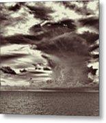 Ocean God Clouds Metal Print