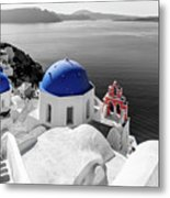 Oia, Santorini / Greece Metal Print