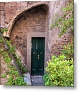 Old Buildings In The Jewish Ghetto In Rome Metal Print