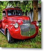 Old Chevy Truck Metal Print