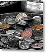 Old Coins Metal Print