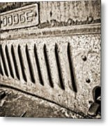 Old Dodge Grille Metal Print