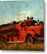Old Fire Truck Metal Print by Off The Beaten Path Photography - Andrew Alexander