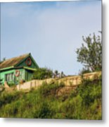 Old Fisherman's House On The Hill Metal Print