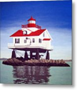 Old Plantation Flats Lighthouse Metal Print