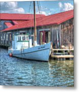 Old Point Crabbing Boat Metal Print