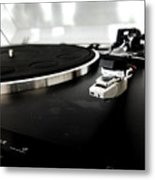 Old Record Player Metal Print