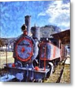 Old Steam Train In Nafplio Town Metal Print
