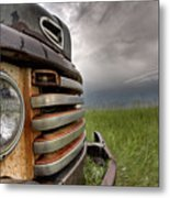 Old Vintage Truck On The Prairie Metal Print