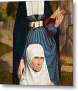 Old Woman At Prayer With St. Anne Metal Print