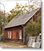 Old Wooden House With Tar Metal Print