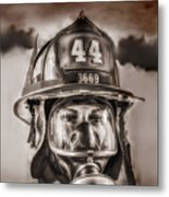 On Duty And Into Fire Metal Print