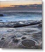 On The Ledge - Sunrise Seascape Metal Print