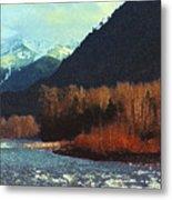 On The Squamish River 2223 Metal Print