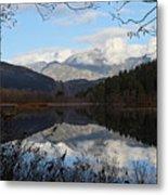 One Mile Lake Reflection Pemberton B.c Canada Metal Print