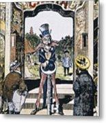 Open Door Cartoon, 1900 Metal Print