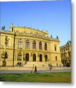 Opera House, Prague Metal Print