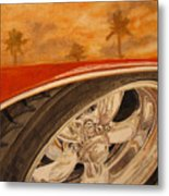Orange Classic Metal Print