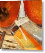 Orange Still Life Metal Print