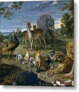 Orpheus And Animals Metal Print