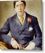 Oscar Wilde, Literary Legend Metal Print