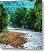 Osprey Over Elk River Metal Print
