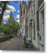 Oude Kerk In Delft Metal Print