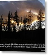 Our Journey Through Life... Metal Print