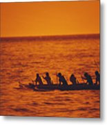 Outrigger Canoe Metal Print