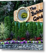 Over 100 Yrs In Bloom, Historic Garden Icon, The Butchart Gardens. Metal Print