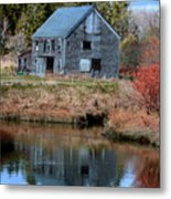 Owls Head Barn Metal Print