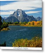 Oxbow Bend In Autumn Metal Print by Greg Norrell