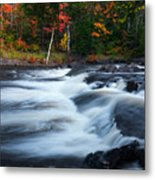 Oxtongue River Ontario Autumn Scenery Metal Print