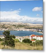 Pag Old Town In Croatia Metal Print
