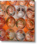Painted Shot Glasses Metal Print