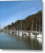 Painting Bay Side Harbor Metal Print