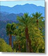 Palm Springs Mountains Metal Print