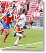 Pamam Games Men's Rugby 7's Metal Print