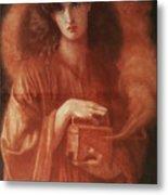 Pandora Metal Print by Dante Charles Gabriel Rossetti