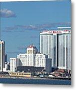 Panoramic View Of Atlantic City, New Jersey Metal Print