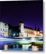Paris At Night 15 Art  Metal Print