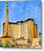 Paris Hotel And Casino Metal Print