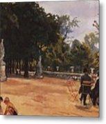 Paris The Luxembourg Park Zinaida Serebryakova Metal Print